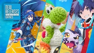 Fire Emblem Heroes, Poochy & Yoshi's Woolly World, Digimon World: Next Order - New Releases