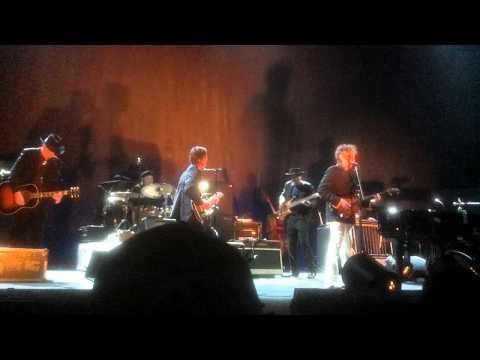 Mr. Bob Dylan plays his guitar Des Moines,IA