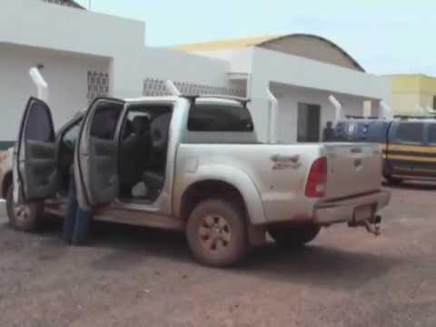 Hilux recuperada assalto Banco Sicredi Nova Lacerda - TV Record Comodoro - MT