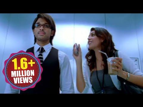 Allu Arjun And Kajal Agarwal Kiss Scene In Lift...