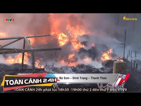 Cháy rụi vựa vỏ xe cũ, người dân bất lực đứng nhìn | Toàn cảnh 24h