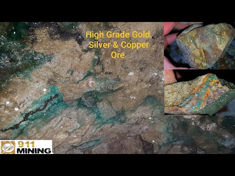 We'll Be Removing High Grade, Gold, Silver & Copper Ore From An Old Mine!