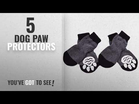 Top 10 Dog Paw Protectors [2018 Best Sellers]: Dog Socks Traction Control Anti-Slip For Hardwood