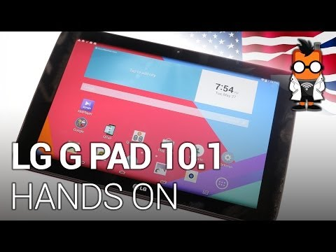 LG G Pad 10.1 inch Tablet Hands On