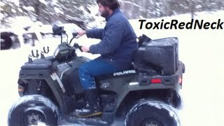 6. Bitch of a  Cold Start   Day...   2011 Polaris Sportsman 500  (REAL COLD OUT!)