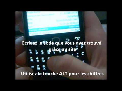 comment trouver code mep blackberry curve 9300