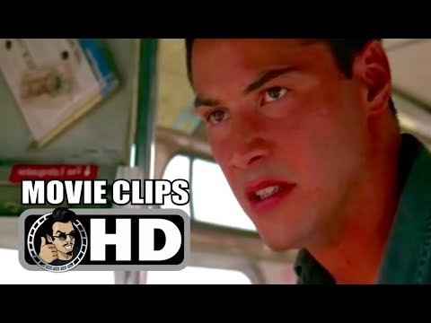 SPEED - 5 Movie Clips + Retro Trailer (1994) Keanu Reeves, Sandra Bullock Action Movie HD