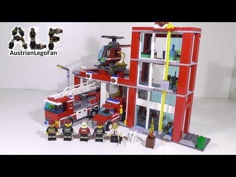 Lego city 60004 pas cher la caserne des pompiers - Caserne de police playmobil ...