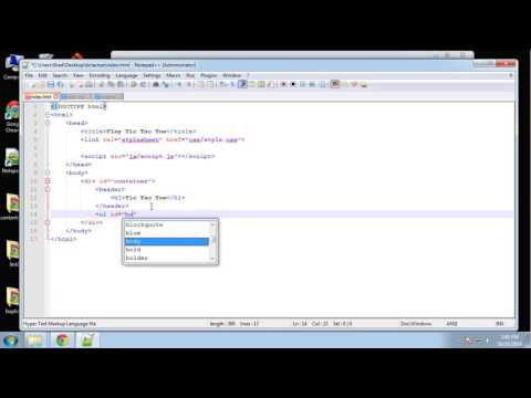 Learn JQuery by making a Tic Tac Toe Game - Part 2
