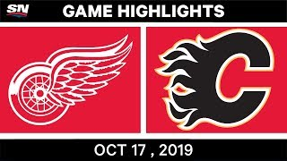 NHL Highlights | Red Wings vs Flames – Oct 17 2019 by Sportsnet Canada