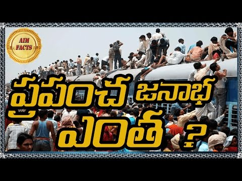 What is the Population Of the World | In Telugu | Top 10 | World Population Facts | AimFacts