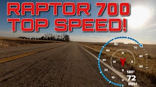 3. 2019 Yamaha Raptor 700 Top Speed!