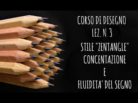 """corso di disegno,lez.n.3 stile """"zentangle"""" gestire concentrazione e mano"""