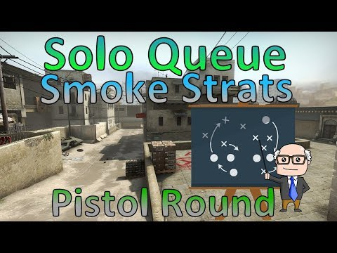 Solo Queue Pistol Smoke Strats CS:GO