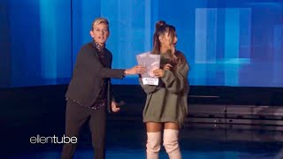 Ariana Grande is giving FREE TICKETS for Sweetener Tour on The Ellen Show!