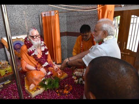 PM Modi unveils the statue of late Mahanth Avaidyanath at Gorakhnath Temple