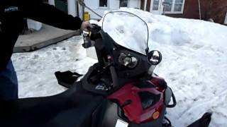 8. Killer snowmobile part 1, 2011 Ski-Doo Expedition SE, 1200 right after crash