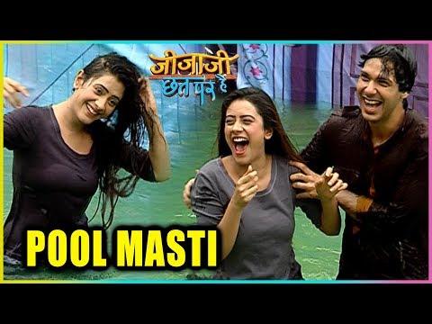 Hiba Nawab And Nikhil Khurana Pool Masti | Jijaji