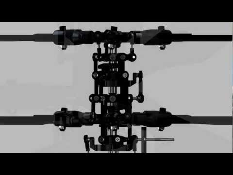Coaxial RC Helicopter Rotor Animation