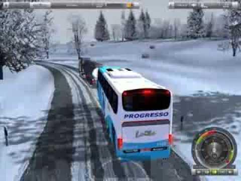 German Truck Simulator Bus mod+winter mod