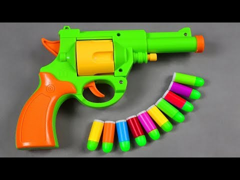 Box Full of Toy Gun - Realistic 1:1 Scale .45 ACP Bulldog Revolver Toy - Rubber Bullet Toy Pistol