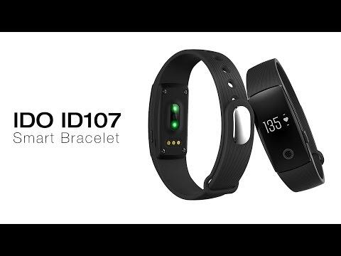 IDO ID107 Smart Bracelet Heart Rate Call Reminder Pedometer Remote Camera Anti Lost