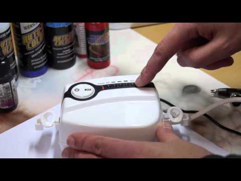Airbrush TV Episode 60: Createx Mini-Kompressor B im Test