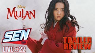 Mulan Trailer Review.  - SEN LIVE # 22 by Schmoes Know