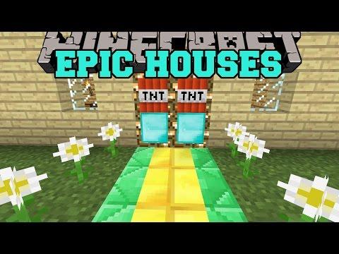 Minecraft: MAKE YOUR HOUSE EPIC (COMBINE BLOCKS INTO DOORS, ANIMATIONS, SECRET DOORS!) Mod Showcase