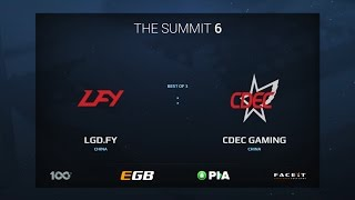 LGD.FY vs CDEC GAMING, Game 1, The Summit 6 Qualifiers, China