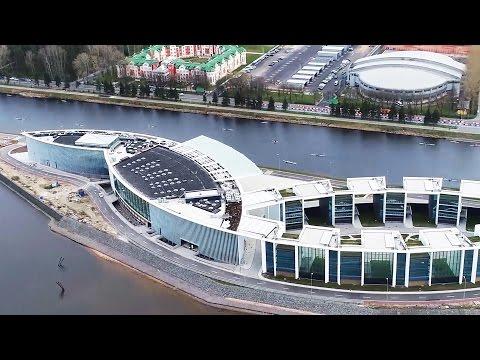 Строящийся центр дзюдо «Явара-Нева» вПетерубрге свысоты