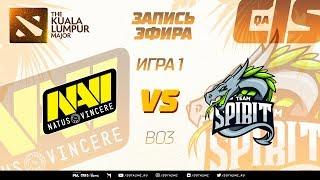 Natus Vincere vs Team Spirit (карта 1), The Kuala Lumpur Major, Закрытые квалификации | СНГ