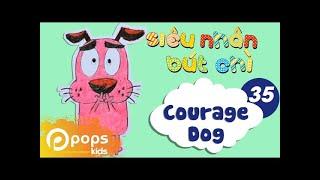 """Hướng Dẫn Vẽ Chú Chó """"Nhút Nhát"""" - Siêu Nhân Bút Chì - Tập 35 - How To Draw A Courage Dog"""