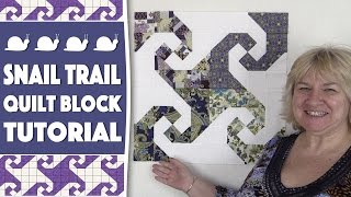 Quilting Blocks Tutorial: In this tutorial, we show you how to create a Snail Trail quilt block.--FULL WRITTEN INSTRUCTIONS HERE-- http://www.alandacraft.com/quilt-block-snail-trail-tutorial/Learn how to square up a half square triangle here: https://youtu.be/eaFOk3ZKrQ0---WATCH MORE QUILT BLOCK TUTORIALS HERE---https://www.youtube.com/playlist?list=PLMxvvtt3Z3CKZx04rEe8Vod1SP1EX767l---FOLLOW US ON---Website: http://www.alandacraft.comFacebook: http://www.facebook.com/alandacraftPinterest: http://www.pinterest.com/alandacraft/Instagram: http://instagram.com/alandacraftTwitter: http://twitter.com/AlandaCraftTumblr: http://www.tumblr.com/blog/alandacraft