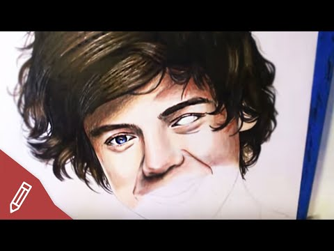 SPEED DRAWING: Harry Styles / One Direction – REALISTIC PENCIL PORTRAIT *Drawing Faces, Zeichnen*