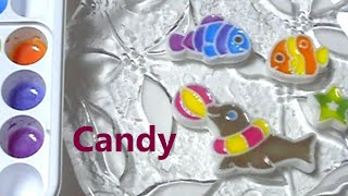 popin' cookin' 12 - Coloring Activity Candy 可吃 ASMR