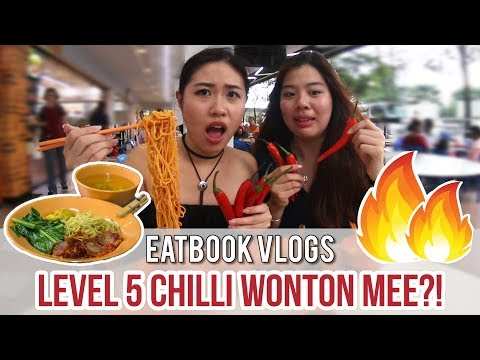 CHILLI KING WANTON MEE WITH FIVE LEVELS OF SPICINESS l Eatbook Vlogs l EP 31