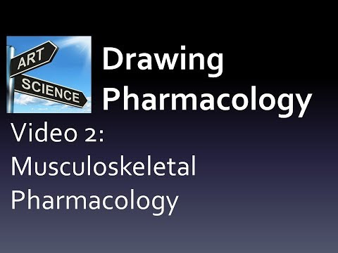 (CC/JPG) Drawing Pharmacology Video 2 Chapter 2 Musculoskeletal (New pharmacology book preview)