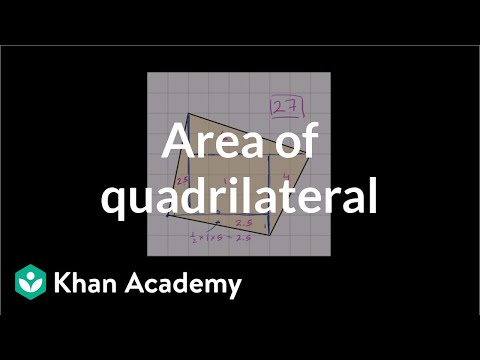 Area Of A Quadrilateral On A Grid Video Khan Academy