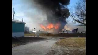 Bethany (MO) United States  city pictures gallery : Home burning in Bethany Missouri 1/14/13