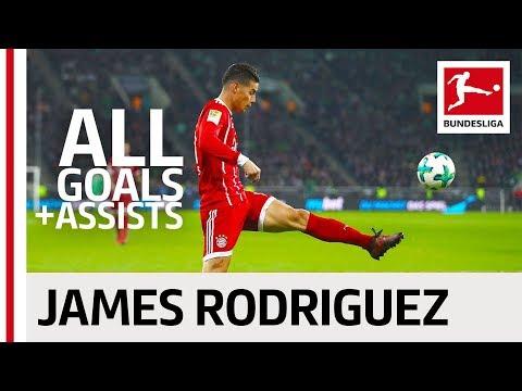 James Rodriguez - All Goals and Assists 2017/18 (видео)
