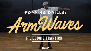 Boogie Frantick – Popping Dance Tutorial for Beginners (Arm Waves)