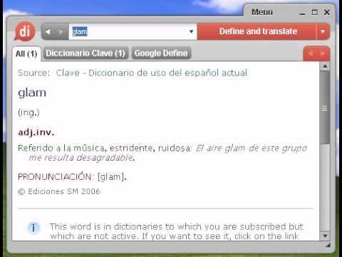 Definición de glam