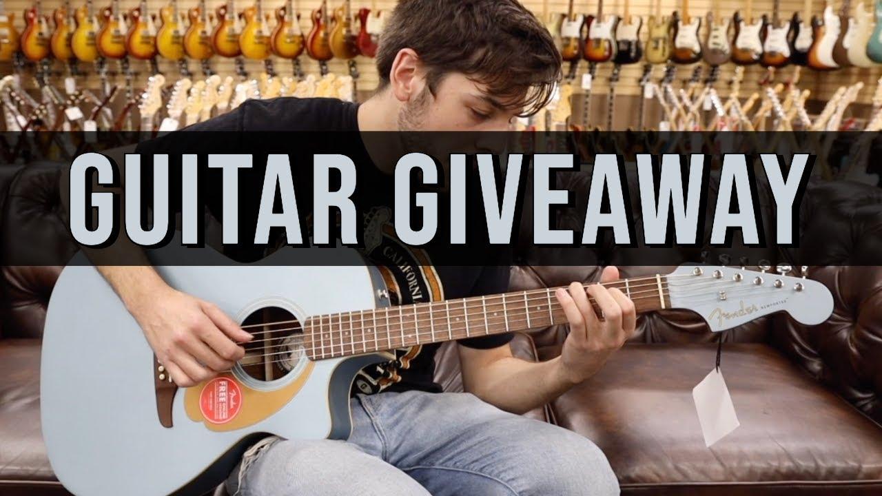 GUITAR GIVEAWAY | Fender California Newporter Player Acoustic-Electric Guitar