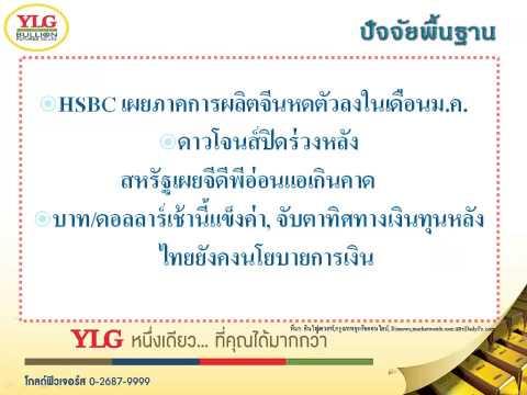 YLG บทวิเคราะห์ราคาทองคำประจำวัน 02-02-15