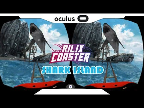 SBS 1080p► RILIX COASTER Shark Island Gear VR Gameplay • Realidade Virtual • GearVR 2018