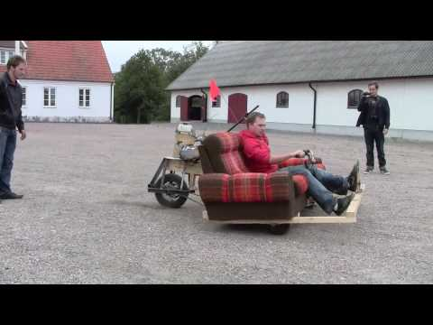 Motorized sofa packs Lifan 120cc engine
