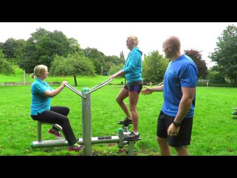 Outdoor Gyms: How to use the Bike & Stepper Station | Calderdale Council
