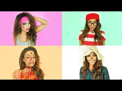 halloween ideas - Thanks for watching, friends! =) Instagram me!! http://instagram.com/AndreasChoice Which one is your fav?! Thank you Theodore leaf for my hair color! Check o...