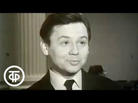 Олег Павлович Табаков  делится с телезрителями своими творческими планами в 1988  и... в  1968 годах